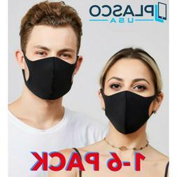1 3 6 PACK Face Mask Cloth Masks Reusable Washable Pink Blac