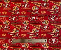 "1/4 YARD   ""RETRO"" NFL San Francisco 49ers design 100% COTT"