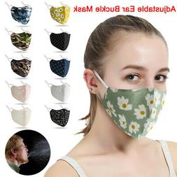 1-5Unisex Fashion Floral Camouflage Face Mask Cover Protecti