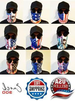 1 American Flag Bandana Face Mask Motorcycle Headband Outdoo