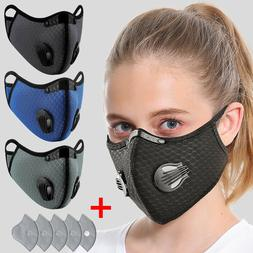 1 Mask + 5 Filter Pads Air Purifying Cycling Protective Mask
