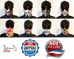 1 pc Bandana Face Mask Clown Headband Outdoor Sports Motorcy