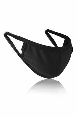 3 Men's Black Cotton Washable Reusable Face Mask w/ 10 HEPA