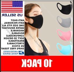 10 pack blowout washable reusable maskblack face