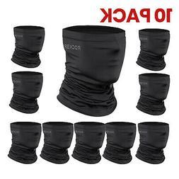 ROCKBROS Neck Gaiter Black Face Mask Breathable Cool Sports