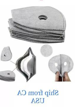 10 PC Activated Carbon Cycling Sport Mask Filter Replacement