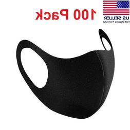 100 Pack Face Mask Breathable Washable Cloth Fabric Mouth Co