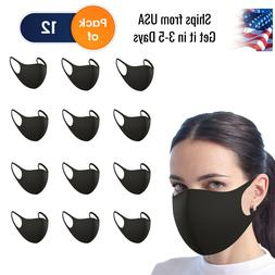 12 PCS Face Mask Washable Breathable Reusable Mouth Protecti