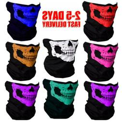 1PC Skeleton Ghost Biker Skull Face Mask Motorcycle Ski Bala