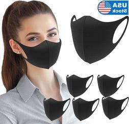 2-10 pcs Reusable Unisex Earloop Balaclava Black Dust Washab