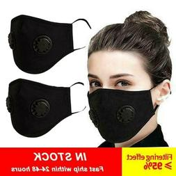2× Outdoor Cycling running Sport Mask with carbon Filter wi