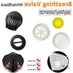 20/50/100PCS Reusable Respirator Valves Accessories Sport Ma