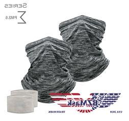 2Pk BZMask Sigma Gaiter Style Face Mask & 7 PM2.5 Filters /
