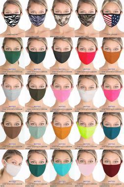 3 6 12 Washable Fashion Mask Cotton Filter Pocket Face Masks