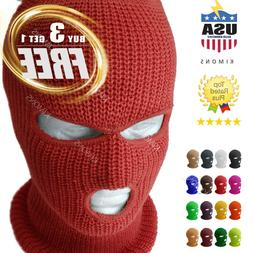 3 Hole Full Face Mask Ski Mask Winter Cap Balaclava Outdoor