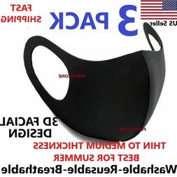 Black Face Fashion Mask Washable Reusable Unisex Masks