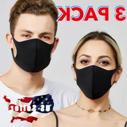 3 PACK Face Mask Reusable Washable Protective Designer Masks