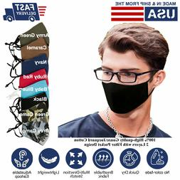 3D Face Mask Adults Reusable washable 100% Pure Cotton L-XL