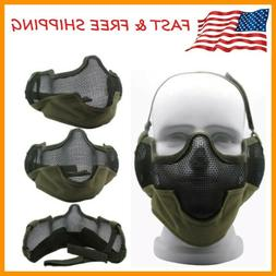 3G Airsoft Face Mask Sports Steel Mesh Half Face Protective
