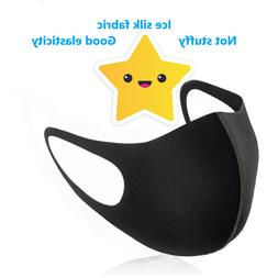 3pc Washable star face dust mask outdoor ice silk sports dia