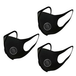 3Pcs Reusable & Breathable Outdoor Sports Mouth Cover Face M