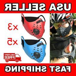 3X 5X Reusable Outdoor Sports Anti Haze Dust Face Mask PM2.5