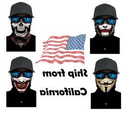 4 Pcs New FACE MASK Hood Ghost Skull Joker Biker Motorcycle