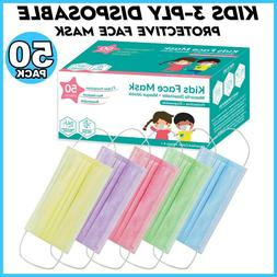 50 pcs kids toddlers face mask mouth