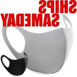 5PC & 2PC Black Face Fashion Mask Washable Reusable Unisex A