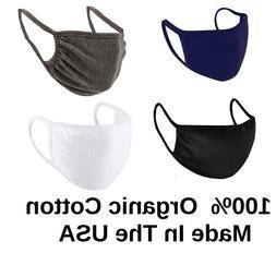 5X Black White Blue Gray Face Mask Men Women Boys Girls Adul