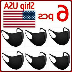 6 PCS Reusable face Mask Cover Washable Breathable COOL FLOW