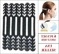 6pcs Face Mask Ear Saver Strap Extender Extension Adjustable