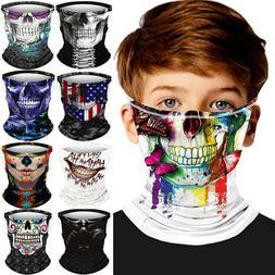 7-14Y Kids Biker Halloween Skull Cover Face Mask Cycling Ski