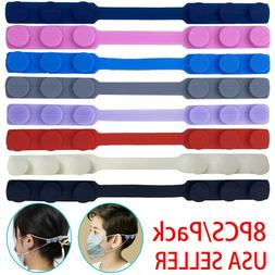 8pcs Face Mask Ear Saver Strap Extender Hook Extension Adjus