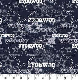 "9"" X 21"" NFL Dallas Cowboys Cotton face mask Fabric Ea a"