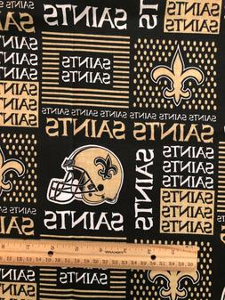 "9"" X 28"" NFL New Orleans Saints Cotton face mask Fabric"