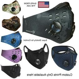 Activated Carbon Face Mask Shield with filter Cycling Outdoo