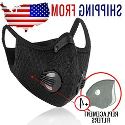 Activated Carbon Face Maskw extra 4 FILTERS PM2.5 BREATHAB