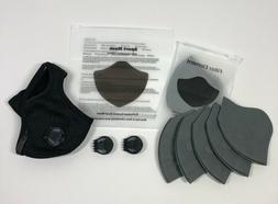 activated carbon sports filter mask 2 exhalation