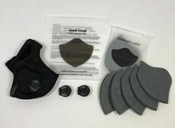 Activated Carbon Sports Mask With Exhalation Valves, 5 Pk Fi
