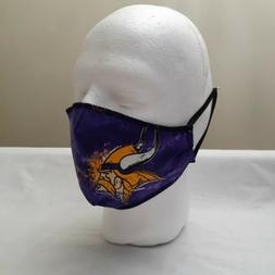 Adult Minnesota Vikings New Face Mask Washable Reusable Cott