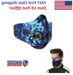 Air Purifying Sports Face Mask PM 2.5 Carbon Filter & Breath