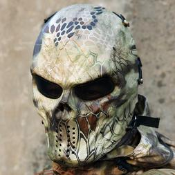 Airsoft Face Mask Paintball Full Protection Skull Outdoor Ga