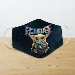Baby Yoda Hugs Philadelphia Eagles Reusable Cotton Face Mask
