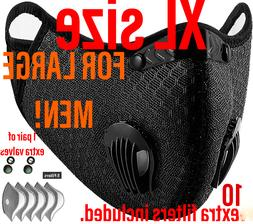 BIG MAN XL face mask with double exhalation valves+10 filter