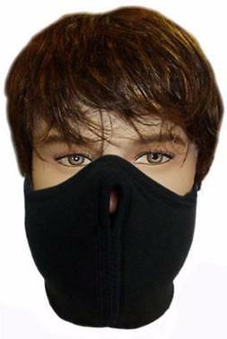 Black Half Face Mask Fleece Winter Sports Ski Motorcycle Bik