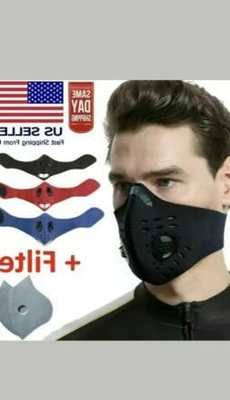 Black Masks Air Purifying PM2.5 Face Mask Activated Carbon w