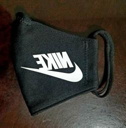 Nike Black  Face  Mask Fabric Washable, Reusable Handmade Ma