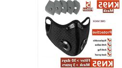 RockBros Black Outdoor Sports Face Mask with 3 extra Filters