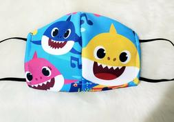 Black Unisex Face Mask Reusable Washable Baby shark mask gir